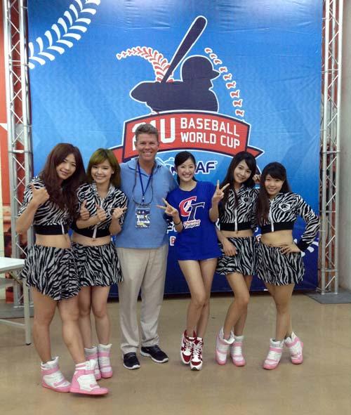 Joel Bradley at Baseball World Cup in Tokyo