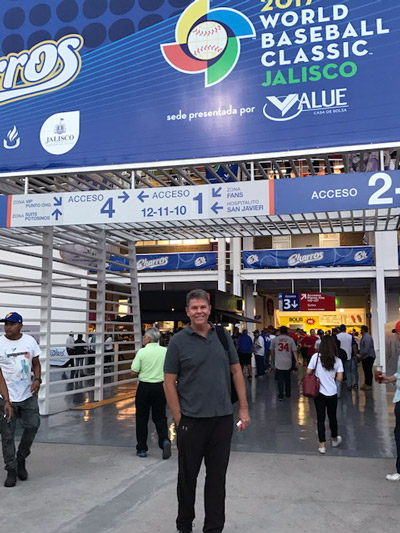 Joel Bradley at World Baseball Classic in Mexico