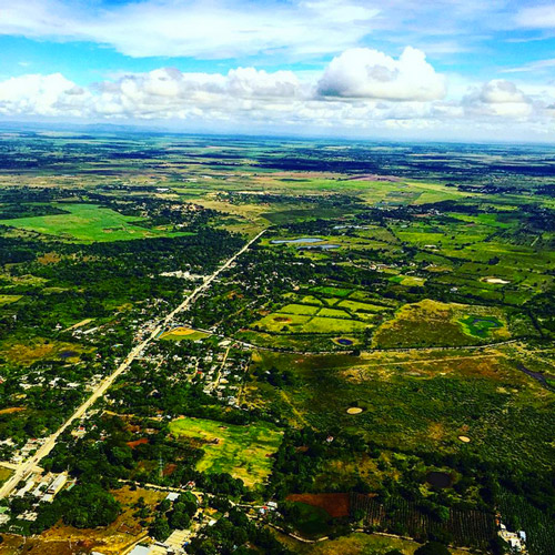 Aerial view of the Dominican Republic