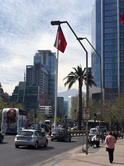 Downtown area of Santiago, Chile