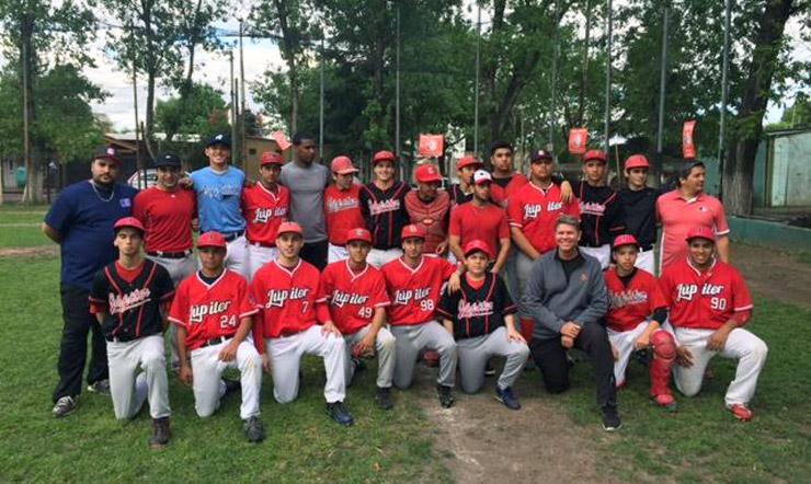 Joel Bradley with Jupiter Beisbol team in Argentina