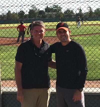Joel Bradley with Mario Fernandez in Chile