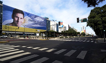 Lionel Messi Billboard in Buenos Aires