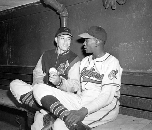 Bob Feller and Satchel Paige