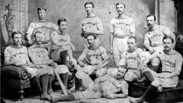 St Louis Brown Stockings Baseball Team, 1876