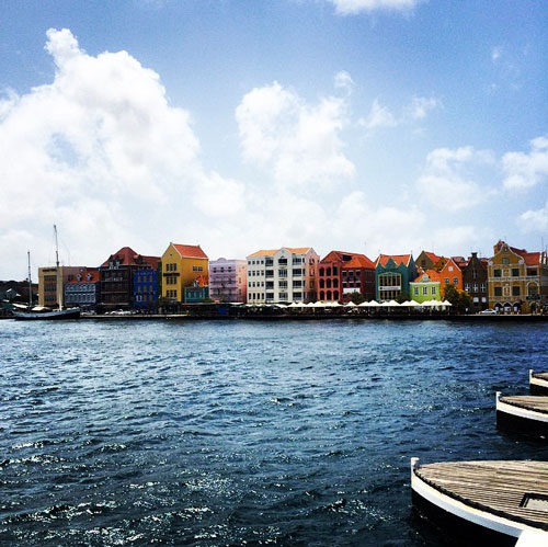 Colorful buildings of Willemsted, Curacao